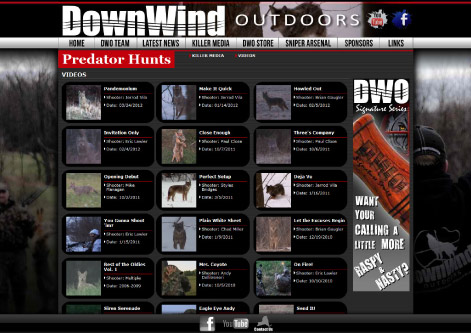 DownWind Outdoors Video Page