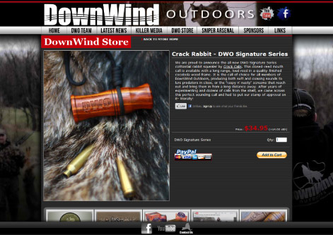 DownWind Outdoors Store Page